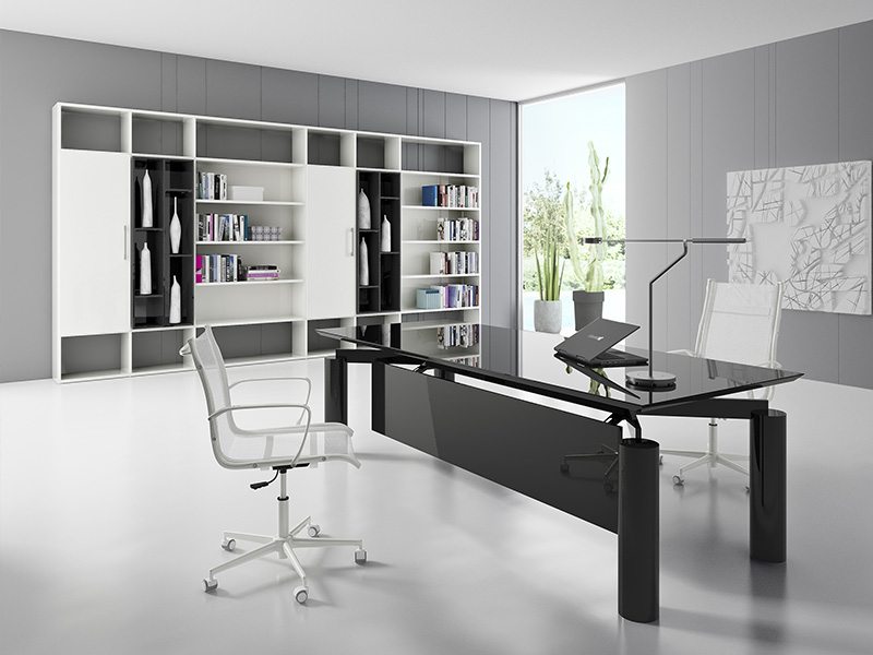 bureaux de direction verre iulio i. Black Bedroom Furniture Sets. Home Design Ideas