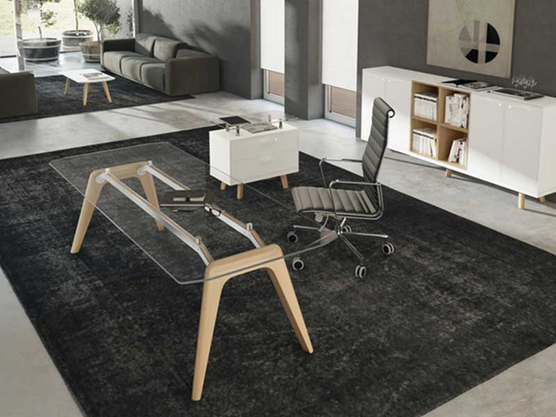 bureaux de direction verre iulio high gloss i. Black Bedroom Furniture Sets. Home Design Ideas