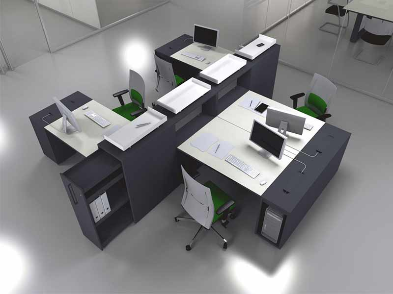 Bureaux openspace i for Catalogue mobilier design
